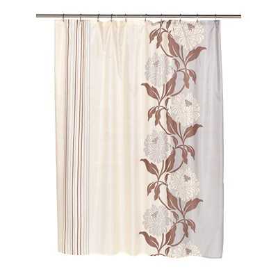 Carnation Home Fashions  Inc Chelsea Fabric Shower Curtain in Chocolate Chocolate Search Results