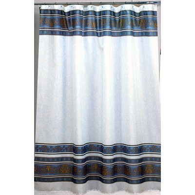 Carnation Home Fashions  Inc Fleur Fabric Shower Curtain in Slate Slate Search Results