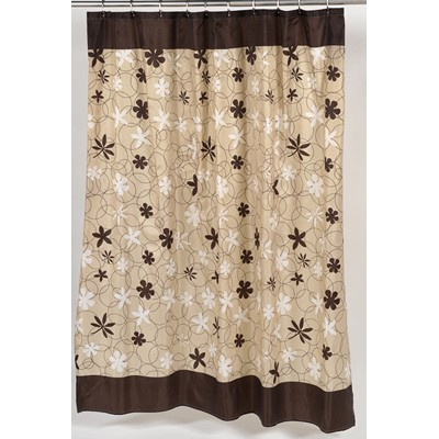Carnation Home Fashions  Inc Karen Fabric Shower Curtain Brown Search Results