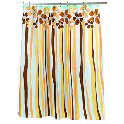 Carnation Home Fashions  Inc Mandy Fabric Shower Curtain MULTI Search Results