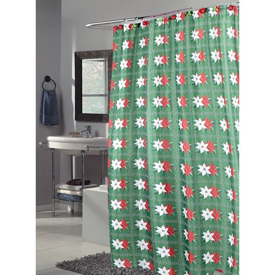 Carnation Home Fashions  Inc Poinsettia Fabric Shower Curtain MULTI Search Results