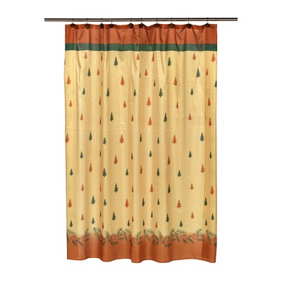 Carnation Home Fashions  Inc Winters Break Fabric Shower Curtain MULTI Search Results