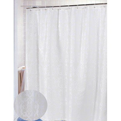 Carnation Home Fashions  Inc Damask Fabric Shower Curtain in Ivory Ivory Search Results