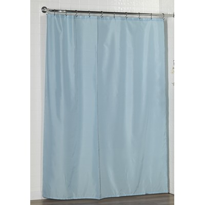 Carnation Home Fashions  Inc Standard-Sized Polyester Fabric Shower Curtain Liner in Light Blue Lt Blue Search Results