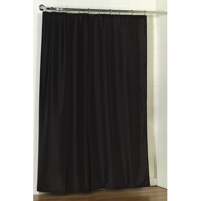 Carnation Home Fashions  Inc Standard-Sized Polyester Fabric Shower Curtain Liner in Black Black Search Results