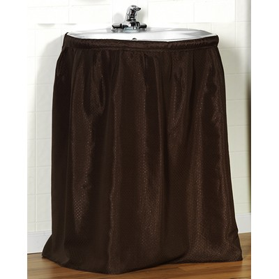 Carnation Home Fashions  Inc Lauren Diamond-Piqued 100% Polyester Sink Drape in Brown Brown Search Results