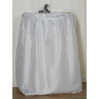 Carnation Home Fashions  Inc Lauren Diamond-Piqued 100% Polyester Sink Drape in White White Search Results