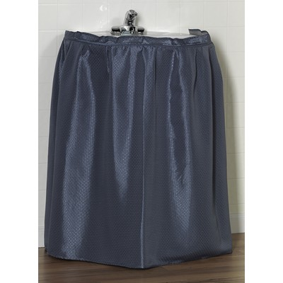 Carnation Home Fashions  Inc Lauren Diamond-Piqued 100% Polyester Sink Drape in Slate Slate Search Results