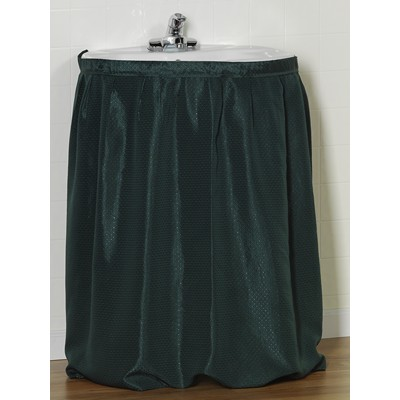 Carnation Home Fashions  Inc Lauren Diamond-Piqued 100% Polyester Sink Drape in Evergreen Evergreen Search Results
