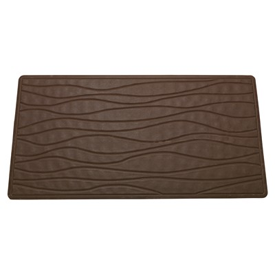 Carnation Home Fashions  Inc Large (18 x 36) Slip-Resistant Rubber Bath Tub Mat in Brown Brown Search Results