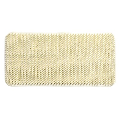 Carnation Home Fashions  Inc Grass Look Vinyl Bath Tub Mat Size 14 x 26 in Ivory IVORY Search Results