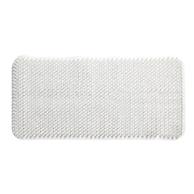 Carnation Home Fashions  Inc Grass Look Vinyl Bath Tub Mat Size 14 x 26 in White WHITE Search Results