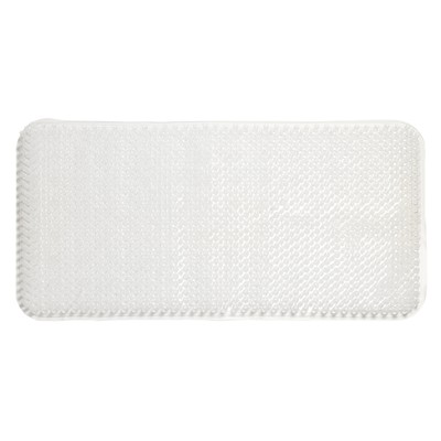 Carnation Home Fashions  Inc Grass Look Vinyl Bath Tub Mat Size 14 x 26 in Super Clear CLEAR Search Results