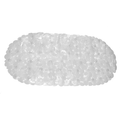 Carnation Home Fashions  Inc Pebbles Vinyl Slip-Resistant Bath Tub Mat in Super Clear Super Clear Search Results