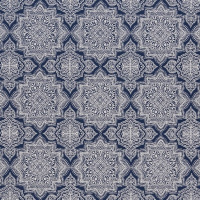 Charlotte Fabrics D1433 Indigo Mandala Outdoor Vibrant Wovens