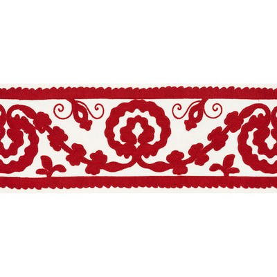Schumacher Trim ASHBURY TAPE RED Schumacher Trim