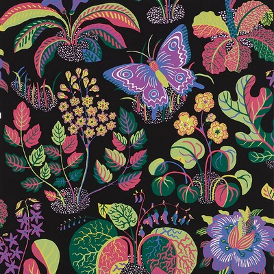 Schumacher Wallpaper EXOTIC BUTTERFLY BLACK Search Results