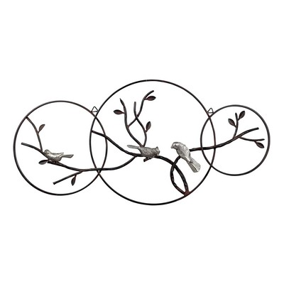 Sterling Birds On A Branch Wall D�cor Rust,Silver Search Results