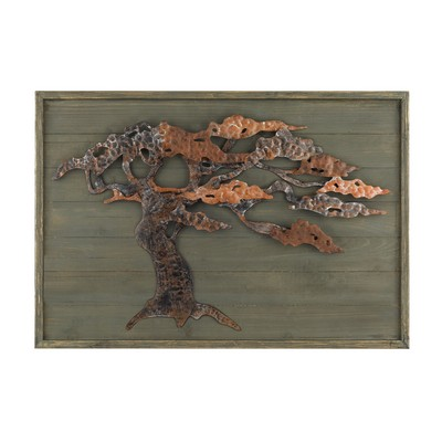 Sterling Wood & Metal Tree Wall Art Aged Green With Rust Search Results
