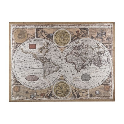 Sterling Antique Style World Map Wall Art Aged Tone Printed Map Search Results