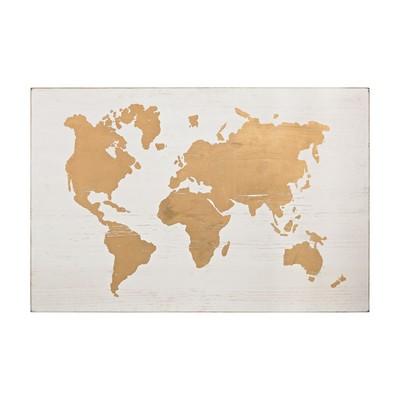 Sterling Metallic World Map on Wood White,Gold Search Results