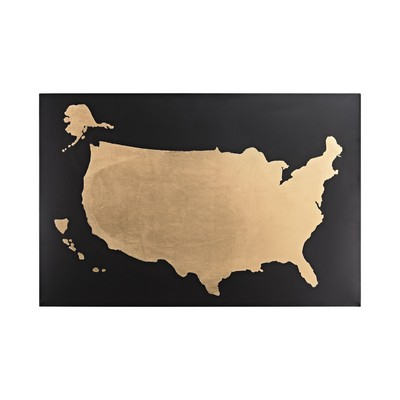 Sterling Metallic World Map on Black Black,Gold Search Results