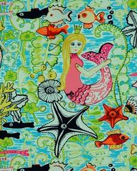 Covington Mermaids 754 Bubble Gum Fabric