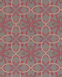 Robert Allen Four Leaf Tangerine Fabric