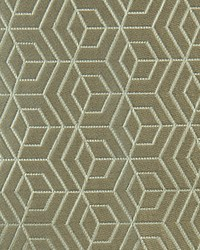Scalamandre Hoopstar Silver On Taupe Fabric
