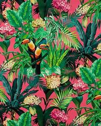 Scalamandre Blooming Paradise Pink Fabric