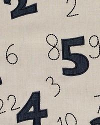 Scalamandre Numbers Denim sand Fabric