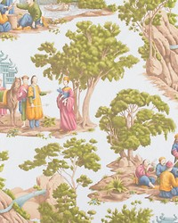Old World Weavers Mandarin Toile Sky Fabric