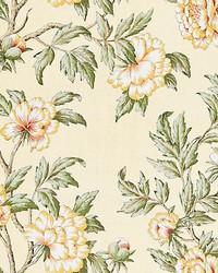 Scalamandre Peonia Linen Print Sunlight Fabric