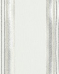 Scalamandre Nautical Stripe White Sand Fabric