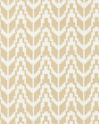 Scalamandre Chevron Embroidery Straw Fabric