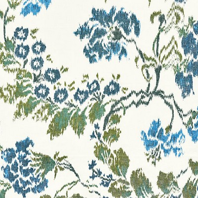 Scalamandre KEW GARDENS WARP PRINT BLUES ON IVORY Search Results