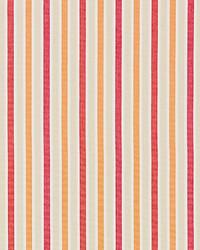 Scalamandre Leeds Cotton Stripe Coral Fabric