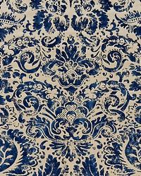 Scalamandre Palladio Velvet Damask Lapis Fabric