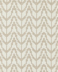 Scalamandre Chevron Embroidery Flax Fabric