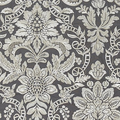 Scalamandre ELIZABETH DAMASK EMBROIDERY CHARCOAL Search Results