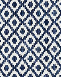 Scalamandre Malay Ikat Weave Indigo Fabric
