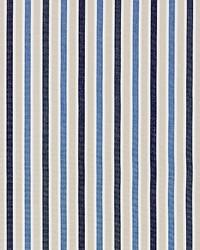Scalamandre Leeds Cotton Stripe Indigo Fabric