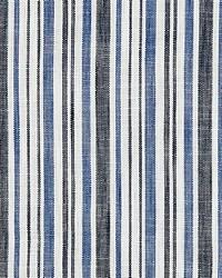 Scalamandre Pembroke Stripe Marine Blue Fabric