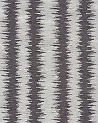 Scalamandre Konya Ikat Stripe Graphite Fabric