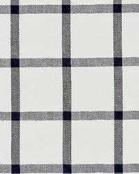 Scalamandre Wilton Linen Check Navy Fabric