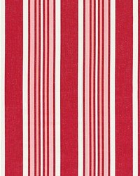 Scalamandre Strada Stripe Poppy Fabric