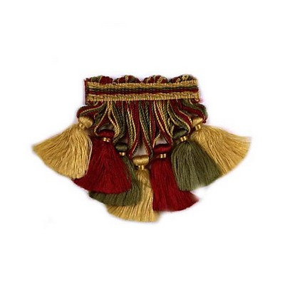 Scalamandre Trim EDWARDS COLLECTION OLD GOLD, FERN, WINE Scalamandre Trim and Tassels - Fringe