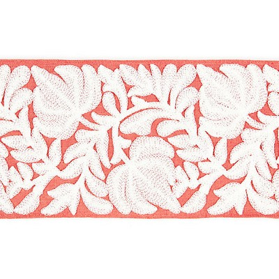 Scalamandre Trim COVENTRY EMBROIDERED TAPE CORAL Scalamandre Trim and Tassels - Fringe
