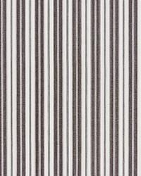Scalamandre Devon Ticking Stripe Charcoal Fabric