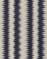 Scalamandre Konya Ikat Stripe Indigo Fabric